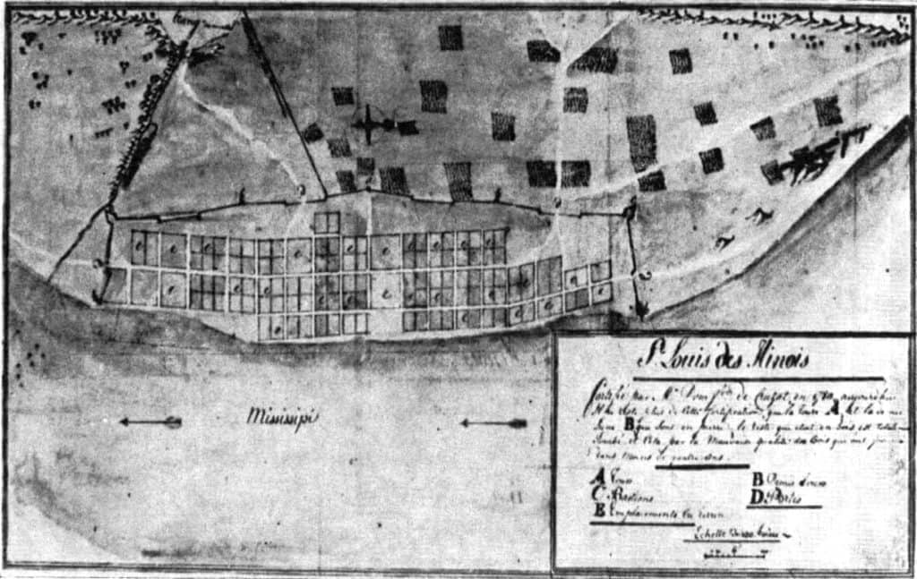map, St. Louis, 1780, archives, Wikipedia